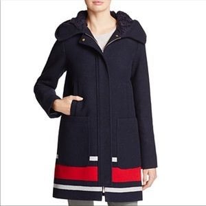 NWT Vince Camuto Navy coat with hood